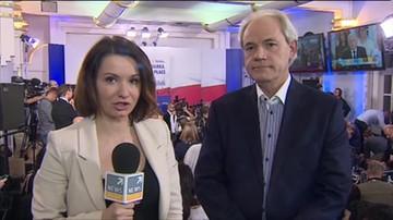 Adam Szejnfeld (PO) po ogłoszeniu sondażowych wyników wyborów parlamentarnych.