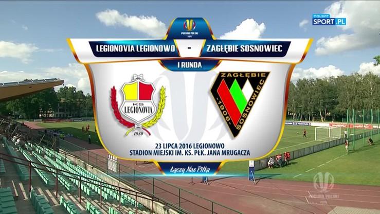 Legionovia - Zagłębie Sosnowiec 0:3. Skrót meczu