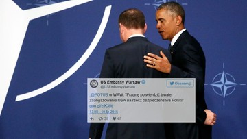 10-07-2016 18:09 Amerykański ambasador publikuje treść całego wystąpienia Obamy