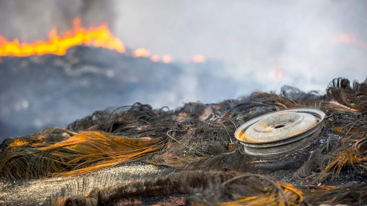 Pożar składowiska opon opanowany