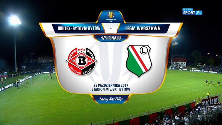 Drutex-Bytovia - Legia Warszawa 1:3. Skrót meczu