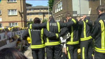 Minuta ciszy w hołdzie ofiarom pożaru wieżowca w Londynie