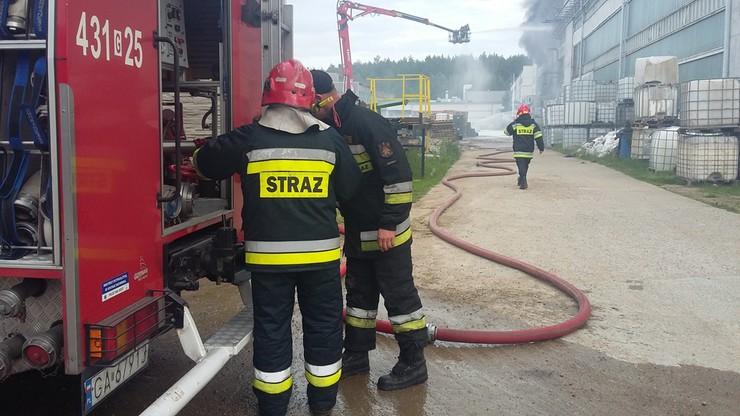 Pożar magazynu w Gdyni