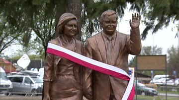 Odsłonięcie pomnika pary prezydenckiej w Białej Podlaskiej