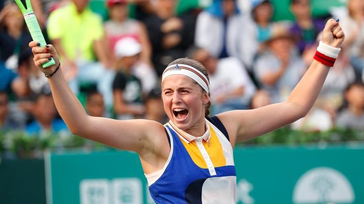 WTA Finals: Ostapenko siódmą singlistką pewną występu w Singapurze
