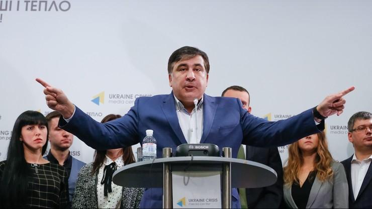 """Ukraina: Saakaszwili chce wymienić """"elity"""". Tworzy nową partię"""