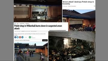 14-10-2016 18:51 W Anglii spłonął polski sklep. Policja sprawdza, czy to był atak na tle narodowościowym
