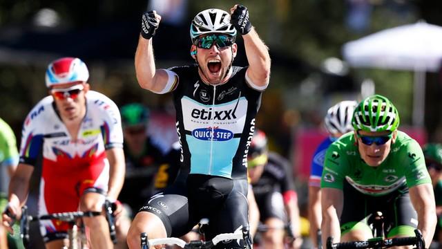 Tour de France: Cavendish wygrał etap, Froome liderem