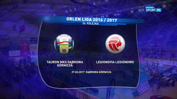 Tauron MKS Dąbrowa Górnicza - Legionovia Legionowo 3:1. Skrót meczu