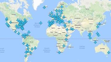 Polskie lotnisko na nietypowej mapie. Internauci oszaleli na jej punkcie