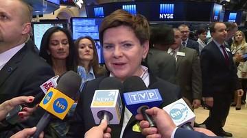 """21-04-2016 17:01 Premier na nowojorskiej giełdzie.""""Zapraszamy do Polski inwestorów"""""""