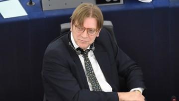 19-01-2016 19:34 Verhofstadt do Szydło: nadużywacie istotnej większości, aby rozmontowywać mechanizmy regulacyjne w kraju
