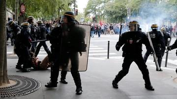 12-09-2017 18:49 Blisko 200 demonstracji we Francji. Przeciwko reformie prawa pracy prezydenta Macrona