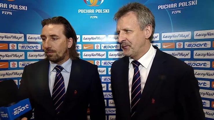 Stefan Majewski i Tomasz Iwan po finale Pucharu Polski