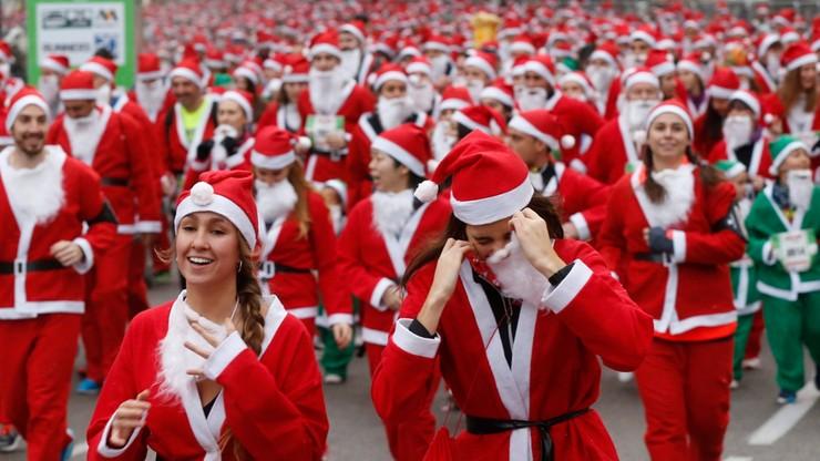 10 tys. św. Mikołajów biegło w Madrycie. W szczytnym celu