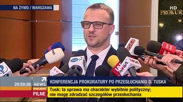 Prokuratura: nie było zastrzeżeń do przesłuchania Tuska