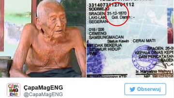 31-08-2016 16:30 Możliwe, że to najstarszy człowiek na świecie. Twierdzi, że ma prawie 146 lat