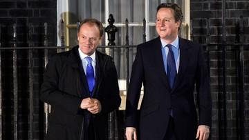 01-02-2016 19:28 Tusk: jest postęp w rozmowach z Wielką Brytanią