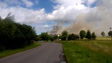 Mleczarnia w ogniu. Użytkownik polsatnews.pl nagrał akcję gaśniczą