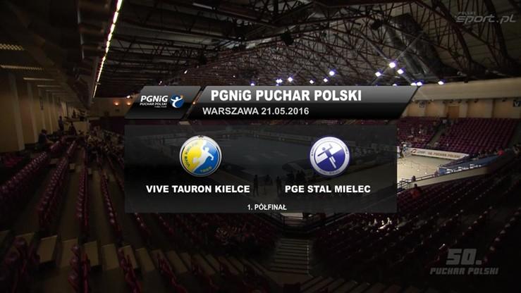 Vive Tauron Kielce - PGE Stal Mielec 31:25. Skrót meczu