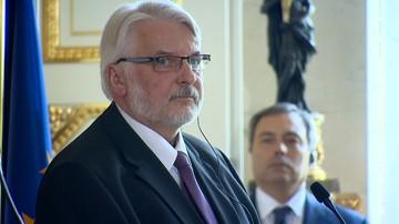 31-08-2017 15:47 Waszczykowski: Timmermans postanowił wykroczyć poza prerogatywy urzędnika