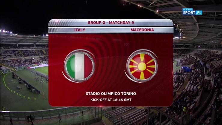 2017-10-07 El. MŚ 2018: Włochy - Macedonia 1:1. Skrót meczu