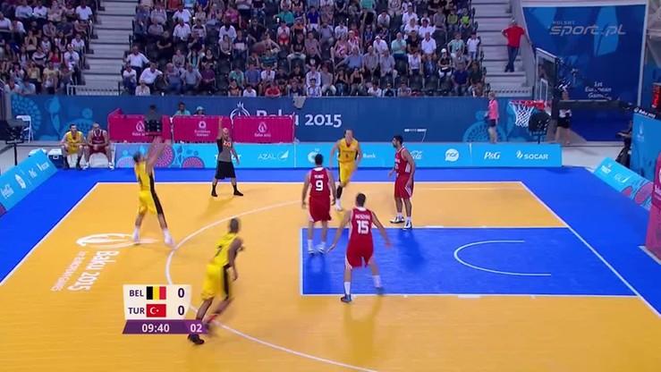 Kosz 3x3: Belgia vs. Turcja. Skrót meczu