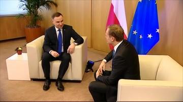 """Prezydent Duda odrzucił propozycję spotkania wystosowaną przez Tuska. """"Nie ma pola do interwencji szefa RE"""""""
