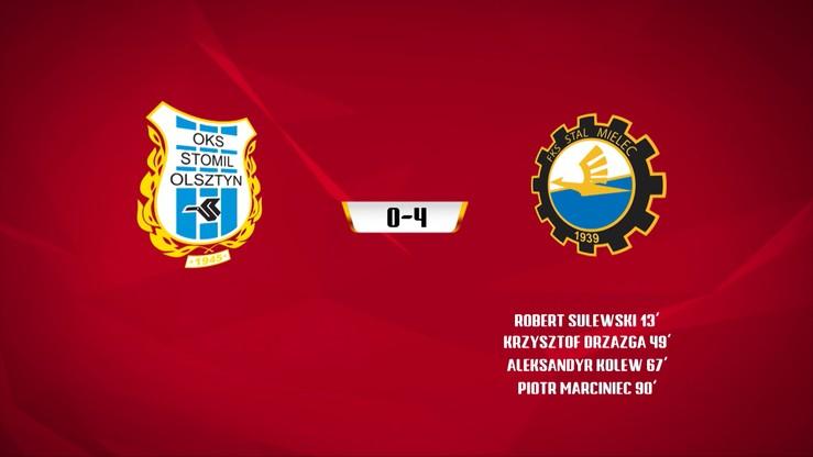 Stomil Olsztyn - Stal Mielec 0:4. Skrót meczu