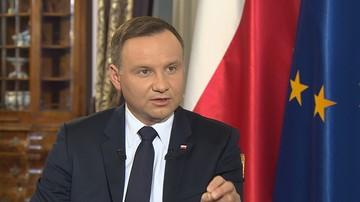 07-05-2016 21:00 Prezydent Andrzej Duda: prezes Rzepliński pogłębia i zaognia spór