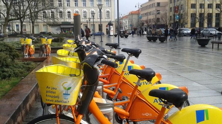Wypożyczalnie rowerów miejskich ruszyły już w Wilnie na Litwie