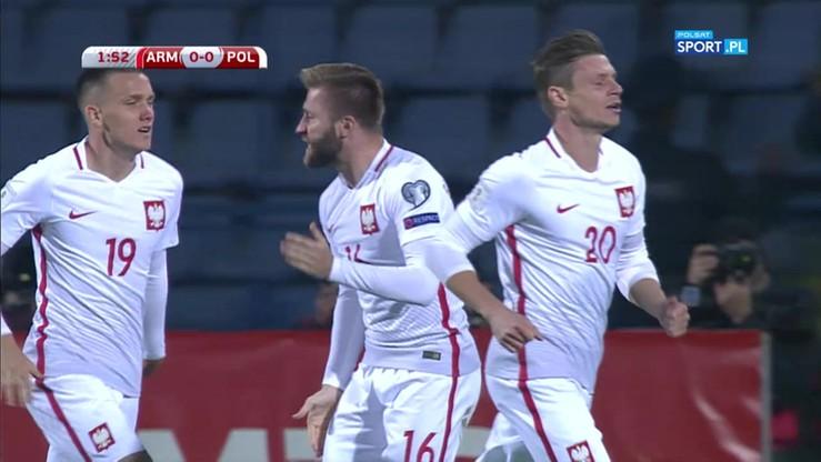2017-10-05 Armenia - Polska 0:1. Gol Grosickiego