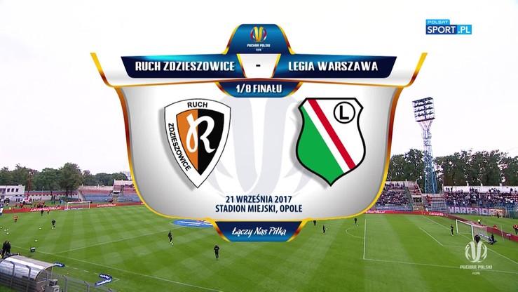 Ruch Zdzieszowice - Legia Warszawa 0:4. Skrót meczu