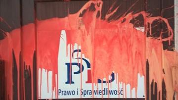 """18-01-2017 16:25 Siedziba PiS w Szczecinie oblana czerwoną farbą. """"Atak na biuro poselskie jest napaścią polityczną"""""""