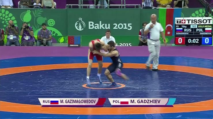 Magomiedmurad Gadżijew zdobywa srebro w Baku. Zobacz walkę