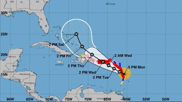 Huragan Maria ekstremalnie niebezpieczny. Osiągnął najwyższą kategorię i uderzył w wyspę Dominikę