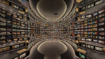 Niesamowita księgarnia w Chinach. Wnętrze wykorzystuje złudzenia optyczne
