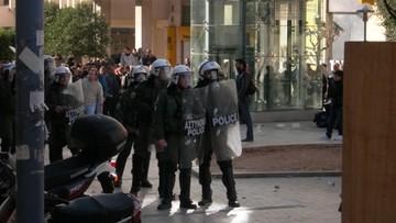12-02-2016 10:54 Starcia greckiej policji z protestującymi w Atenach rolnikami