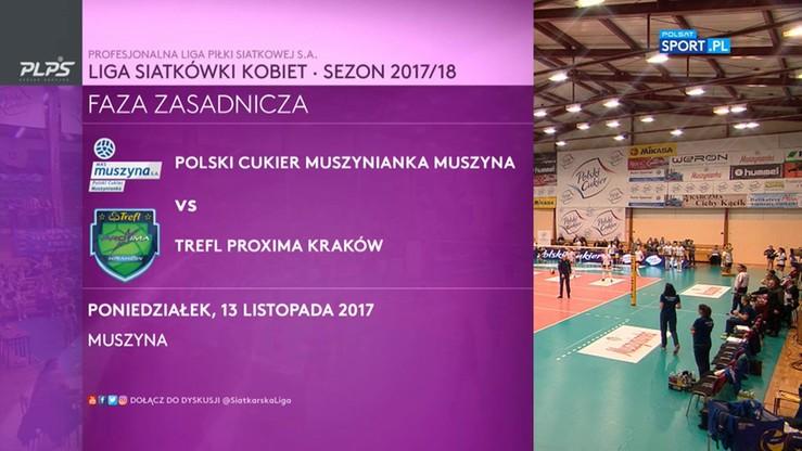 Polski Cukier Muszynianka Muszyna – Trefl Proxima Kraków 3:1. Skrót meczu
