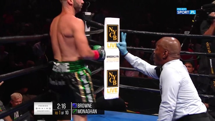 Browne vs Monaghan. Skrót walki