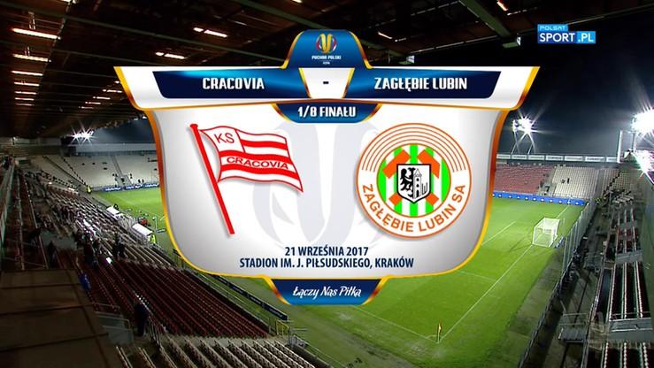 Cracovia - Zagłębie Lubin 0:3. Skrót meczu