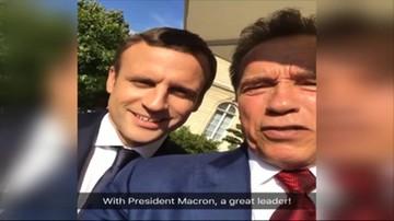 Schwarzenegger z wizytą u Macronów. Rozmawiali o klimacie