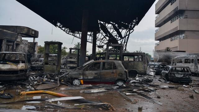 Ghana: 150 osób zginęło w stolicy, m.in. w pożarze stacji benzynowej