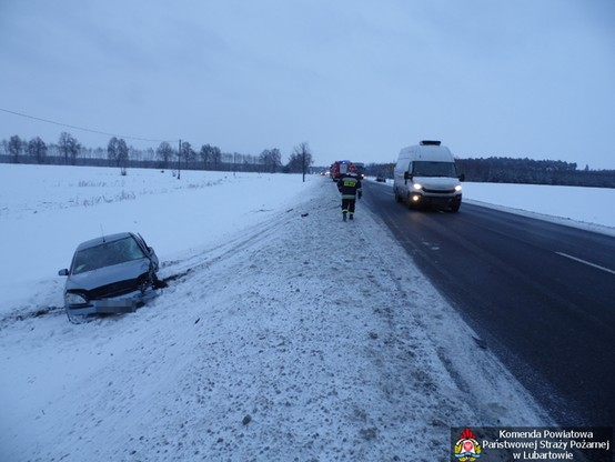 Wypadek koło Lubartowa