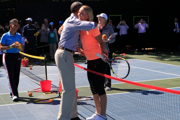 Caroline Wozniacki zagrała w tenisa z Barackiem Obamą