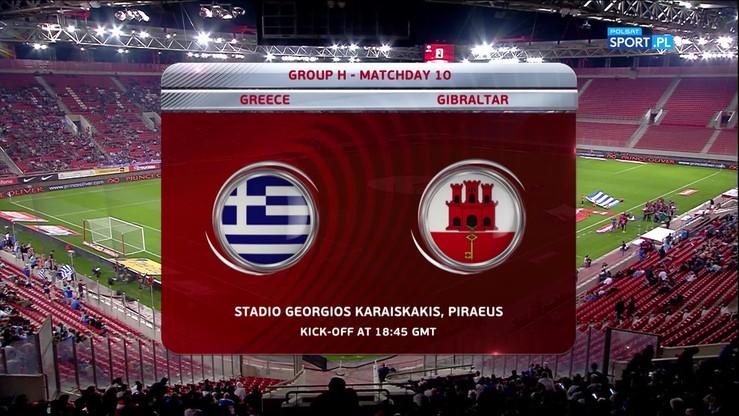 Grecja - Gibraltar 4:0. Skrót meczu