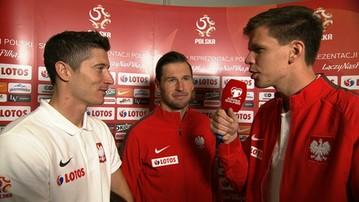 2015-09-08 Szczęsny reporterem Polsat Sport! W ogniu pytań Krychowiak i Lewandowski
