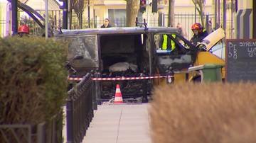 Pożar samochodu przewożącego butle z acetylenem. Ewakuowano m.in. pracowników pobliskiej siedziby MSZ