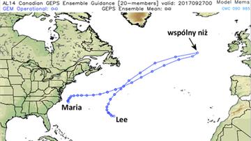 28-09-2017 09:17 Huragany Maria i Lee łączą się i zmierzają w stronę Europy. W Polsce deszcze, w Irlandii i Anglii sztormy