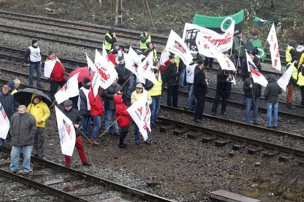 Zakończyła się blokada torów w Katowicach